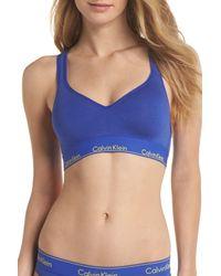 Calvin Klein - Blue Modern Cotton Bra - Lyst
