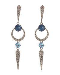 Nadri - Multicolor Gwen Linear Crystal Pave Drop Earrings - Lyst