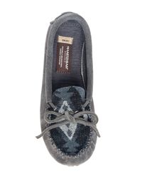 Manitobah Mukluks - Gray Canoe Suede & Wool Moccasin - Lyst