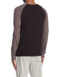 Mister Black Long Sleeve Pocket Lounge Henley T-shirt for men