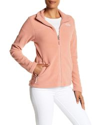 The North Face - Pink Long Sleeve Zip Jacket - Lyst