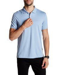 Calvin Klein | Blue Liquid Cotton Polo for Men | Lyst