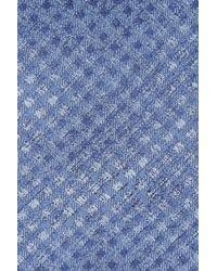 Calibrate - Blue Porter Check Silk Tie for Men - Lyst
