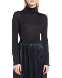 BOSS Blue Farrella Wool Turtleneck Sweater