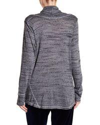 Allen Allen - Gray Long Sleeve Cowl Neck Sweater - Lyst