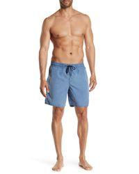 Volcom Blue Solid Drawstring Board Shorts for men