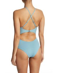 Tavik - Blue Lela Ribbed One-piece Swimsuit - Lyst