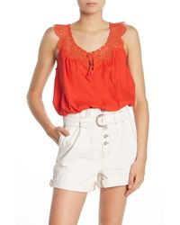 Free People Red Clover Croft Crochet Camisole