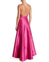 Phoebe Pink Halter Hi-lo Dress