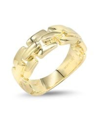 Bony Levy - Metallic 14k Yellow Gold Link Ring - Lyst
