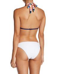 Splendid Multicolor Watercolor Triangle Bikini Top