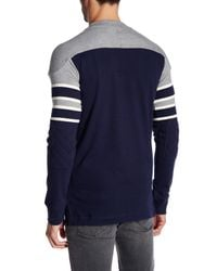 Mitchell & Ness - Blue Nfl Pump Fake Long Sleeve Sweater for Men - Lyst