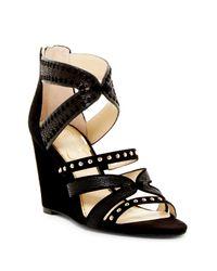 Jessica Simpson | Black Zenolia Wedge Sandal | Lyst