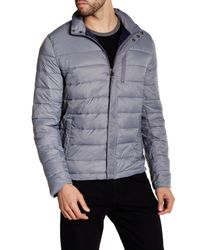 Kenneth Cole | Gray Packable Quilted Puffer Jacket for Men | Lyst