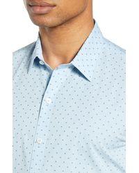 Zachary Prell Blue Huang Regular Fit Short Sleeve Shirt for men