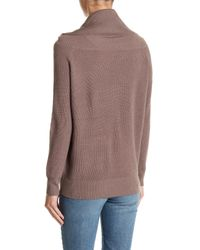 Michael Stars - Brown Ribbed Wool Blend Sweater - Lyst
