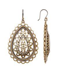Lucky Brand | Metallic Two-tone Openwork Earrings | Lyst