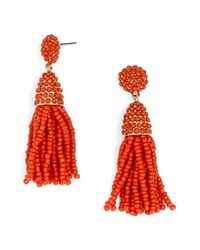 BaubleBar - Red Tratar Drop Earrings - Lyst