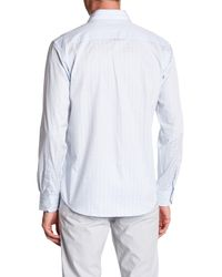 Bugatchi - Blue Print Classic Fit Shirt for Men - Lyst