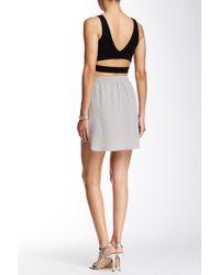 Acrobat - Gray Silk Mini Skirt - Lyst