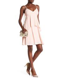 Julia Jordan Pink Spaghetti Strap Tiered A-line Dress