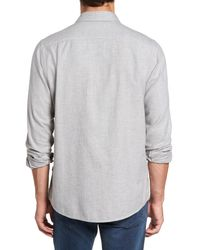 RODD AND GUNN - Gray Cardwell Nep Flecked Sport Shirt for Men - Lyst