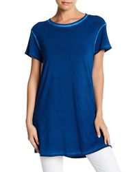 RVCA - Blue Chopped Up Tee - Lyst