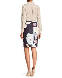 Catherine Malandrino Multicolor Printed Scuba Skirt