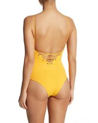 Tavik - Yellow Monahan Lace-up One-piece Swimsuit - Lyst