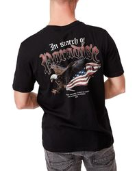 Cotton On Black Graphic Moto T-shirt for men