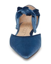 Sole Society Blue Teena D'orsay Flat With Ties