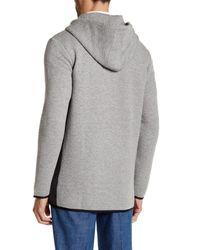 Lands' End Gray Ottoman Hooded Jacket for men