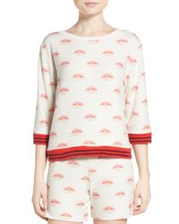All Things Fabulous | Multicolor Lip Syncing Sweatshirt | Lyst