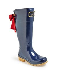 Joules - Blue 'evedon' Rain Boot - Lyst