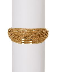 Carolee - Metallic Multi-strand Link Chain Bracelet - Lyst