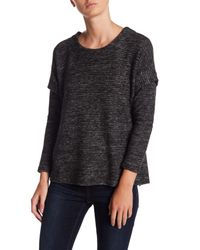 Bobeau - Black Cozy Inset Sleeve Knit Sweater (petite) - Lyst
