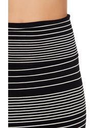 Max Studio Black Stripe Midi Skirt