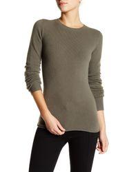 INHABIT Multicolor Cashmere Blend Pullover Sweater
