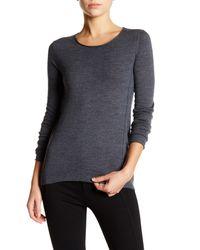 INHABIT Gray Long Sleeve Merino Wool Sweater