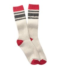 Woolrich Natural 60 Needle Camp Crew Socks for men