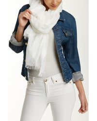 Halogen | White Lightness Scarf | Lyst
