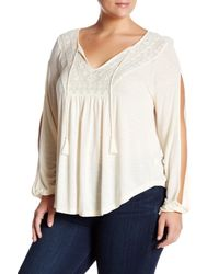 Jessica Simpson | White Embroidered Blouse (plus Size) | Lyst