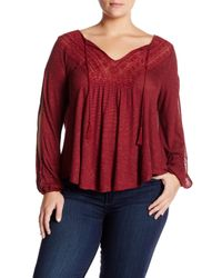 Jessica Simpson | Embroidered Blouse (plus Size) | Lyst
