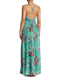 Jessica Simpson Multicolor Paley Maxi Dress