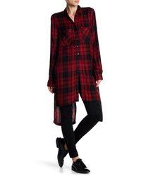 Dex Red Long Sleeve Plaid Shirt