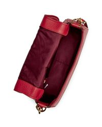 Marc Jacobs Red Empire City Messenger Leather Crossbody Bag