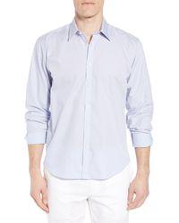 Jeremy Argyle Nyc - Blue Comfort Fit Print Sport Shirt for Men - Lyst