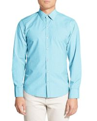 Zachary Prell - Blue Lucia Trim Fit Check Sport Shirt for Men - Lyst