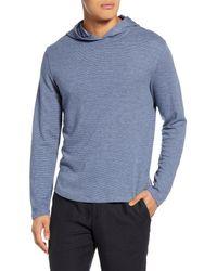 Vince Blue Slubbed Pullover Hoodie for men