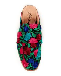 Free People Blue At Ease Loafer Mule
